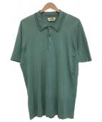 HERMES(エルメス)の古着「ニットポロシャツ」|スカイブルー