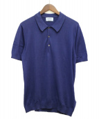 ()の古着「ニットポロシャツ」|ブルー