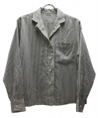 MARGARET HOWELL(マーガレットハウエル)の古着「オープンカラーシャツ」|ホワイト×グレー