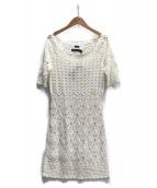 RALPH LAUREN(ラルフローレン)の古着「かぎ編みニットワンピース」|ホワイト