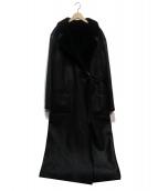 PAUL&ALICE(ポールアンドアリス)の古着「ムートンコート」|ブラック