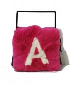 LUDLOW(ラドロー)の古着「Rex box bag」 ショッキングピンク