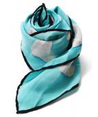 Tiffany & Co.(ティファニー)の古着「シルクスカーフ」|ブラック×スカイブルー