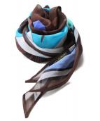 Emilio Pucci(エミリオプッチ)の古着「シルクスカーフ」|ブラウン×ブルー