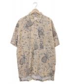 ()の古着「アロハシャツ」 ベージュ