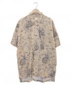 PAPAS(パパス)の古着「アロハシャツ」 ベージュ