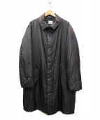 ARMANI COLLEZIONI(アルマーニコレツォーニ)の古着「ダウンステンカラーコート」|ブラック