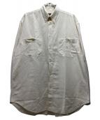 FENDI(フェンディ)の古着「ダブルポケットロゴ刺繍ボタンダウンシャツ」|ベージュ