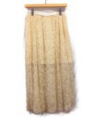 ADAM LIPPES(アダム リップス)の古着「レーススカート」 ベージュ