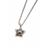 NO BRAND JEWELRY(ノーブランドジュエリー)の古着「K18WG フラワーモチーフダイヤモンドネックレス」