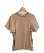 toteme(トーテム)の古着「ワンポイント刺繍Tシャツ」|キャメル