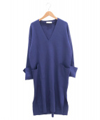 CRUCIANI(クルチアーニ)の古着「ニットワンピース」|ブルー