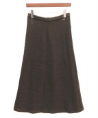 CHANEL(シャネル)の古着「カシミヤロングスカート」|ブラウン