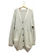 kei shirahata(ケイ シラハタ)の古着「カーディガン」|シルバー