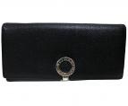 BVLGARI(ブルガリ)の古着「グレインレザー長財布」|ブラック