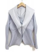 ISSEY MIYAKE(イッセイミヤケ)の古着「プリーツジャケット」|スカイブルー