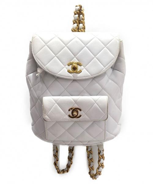 CHANEL(シャネル)CHANEL (シャネル) マトラッセリュック ホワイト サイズ:- ラムレザーの古着・服飾アイテム