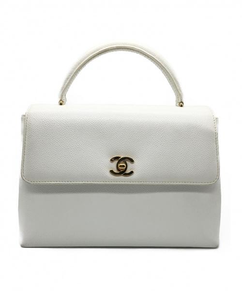 CHANEL(シャネル)CHANEL (シャネル) ハンドバッグ ホワイト サイズ:- キャビアスキンの古着・服飾アイテム