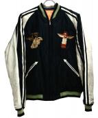 TAILOR TOYO(テイラートーヨー)の古着「スカジャン」|ブラック×ベージュ
