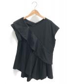 ENFOLD(エンフォルド)の古着「プルオーバーブラウス」|ブラック