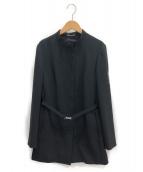 S Max Mara(エス マックスマーラ)の古着「マオカラーコート」|ブラック