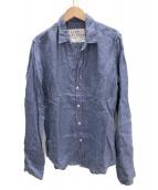 Frank&Eileen(フランクアンドアイリーン)の古着「リネンスキッパーシャツ」|ブルー
