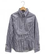 LAppartement(アパルトモン)の古着「ストライプコットンシャツ」|ホワイト×ブルー