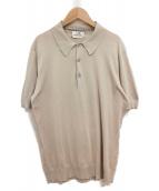 HERMES(エルメス)の古着「ニットポロシャツ」|ベージュ