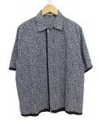 ()の古着「ジップアップシャツ」|ホワイト×ネイビー