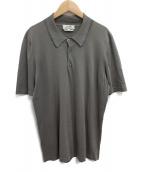 HERMES(エルメス)の古着「ニットポロシャツ」|グレー
