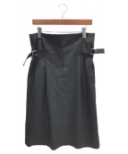 JIL SANDER(ジルサンダー)の古着「ハイウエストスカート」|ブラック