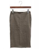 MUSE de Deuxieme Classe(ミューズデドゥーズィエム クラス)の古着「タイトスカート」|ブラウン