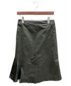JIL SANDER(ジルサンダー)の古着「アシンメトリースカート」|オリーブ