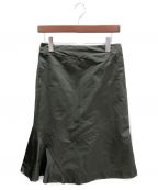 JIL SANDER()の古着「アシンメトリースカート」|オリーブ