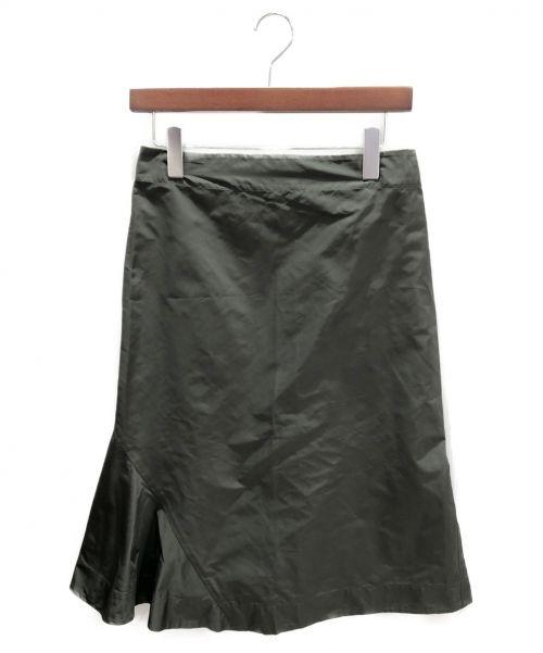 JIL SANDER(ジルサンダー)JIL SANDER (ジルサンダー) アシンメトリースカート オリーブ サイズ:32の古着・服飾アイテム