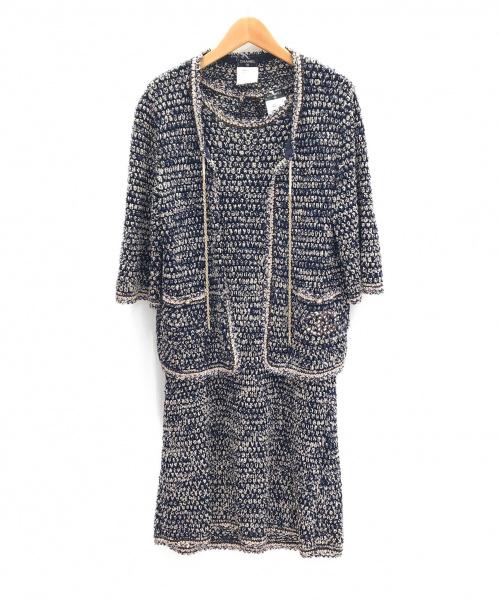 CHANEL(シャネル)CHANEL (シャネル) ワンピース・ボレロセット ネイビー サイズ:42の古着・服飾アイテム