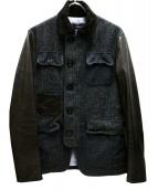 DSQUARED2(ディースクエアード)の古着「ハンティングジャケット」|グレー×ブラウン