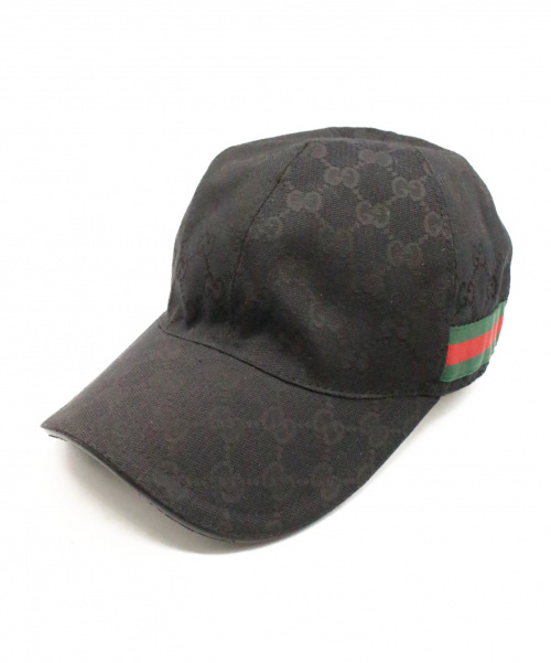 GUCCI(グッチ)GUCCI (グッチ) キャップ ブラック サイズ:XL GGの古着・服飾アイテム