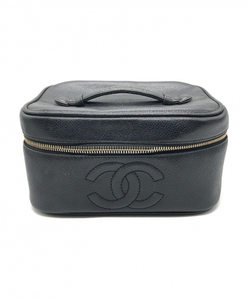 CHANEL(シャネル)CHANEL (シャネル) バニティバッグ ブラック サイズ:- キャビアスキンの古着・服飾アイテム