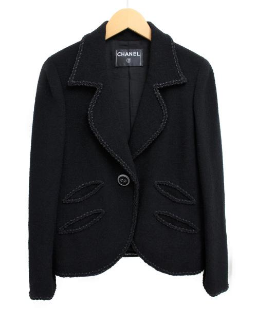 CHANEL(シャネル)CHANEL (シャネル) スカートスーツ ブラック サイズ:38の古着・服飾アイテム