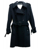 BURBERRY LONDON(バーバリーロンドン)の古着「ウールトレンチコート」 ブラック