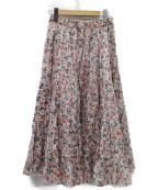 ISABEL MARANT(イザベルマラン)の古着「19SS print skirt   スカート」|レッド