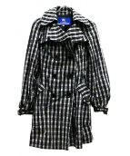 BURBERRY BLUE LABEL(バーバリーブルーレーベル)の古着「ノヴァチェックトレンチコート」|ブラック×ホワイト