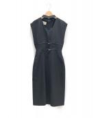 GUCCI(グッチ)の古着「20SS ロゴベルテッドドレス」|ブラック