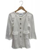 CHANEL(シャネル)の古着「七分袖ツイードジャケット」|ホワイト