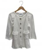 CHANEL()の古着「七分袖ツイードジャケット」 ホワイト