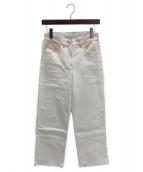 CHANEL(シャネル)の古着「デニムワイドパンツ」|ホワイト