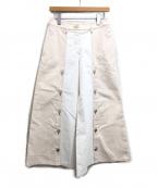 CHANEL()の古着「デニムワイドパンツ」|ホワイト