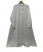 OBLI(オブリ)の古着「20SS フレアシャツワンピース」 ホワイト