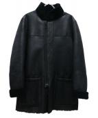 ARMANI COLLEZIONI(アルマーニコレツォーニ)の古着「リバーシブルムートンコート」|ブラック